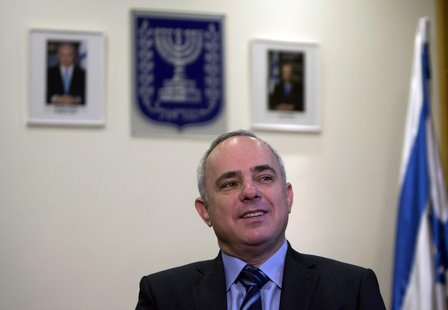 Israel's former Finance Minister Yuval Steinitz holds an interview with Reuters in Jerusalem January 2, 2013. REUTERS/Ronen Zvulun