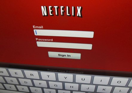 The Netflix sign on is shown on an iPad in Encinitas, California, April 19,2013. REUTERS/Mike Blake