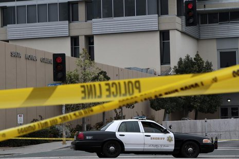 A Los Angeles County Sheriff patrol car is parked at the campus of Santa Monica College in Santa Monica, California, June 8, 2013. REUTERS/J