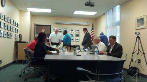 Earlier meeting of the Commission engaged in the original City Manager's search.