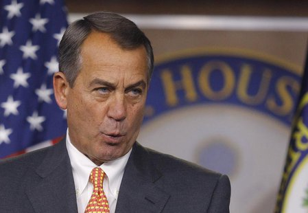 House Speaker John Boehner holds a news conference at the U.S. Capitol in Washington March 21, 2013. REUTERS/Gary Cameron