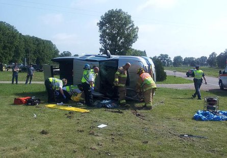 Part of the accident scene at Block and Central Roads, Bethel Township, June 11, 2013.