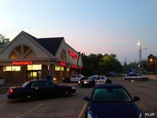 Green Bay police investigate an armed robbery at Walgreens, 1401 E. Mason St., June 11, 2013. (courtesy of FOX 11).