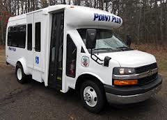 Point Plus paratransit bus, operated by Stevens Point Transit.