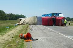 I-70 Accident pic 1 Supplied By Indiana State Police