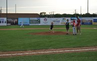 Belky with 1st pitch at Woodchucks game 6 11 13 12