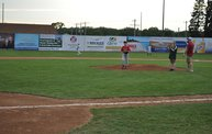 Belky with 1st pitch at Woodchucks game 6 11 13 11