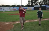 Belky with 1st pitch at Woodchucks game 6 11 13 9