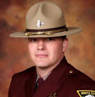 Trooper Andrew Steen of the South Dakota Highway Patrol has been named the American Association of State Troopers 2013 Trooper of the Year following an incident with a suspected drunk driver in which he received critical injuries. (dps.sd.gov)