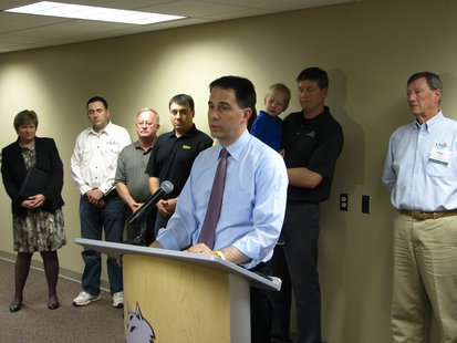 Gov. Scott Walker at NTC Wausau