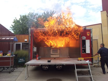 Kitchen Fire Demonstration Trailer
