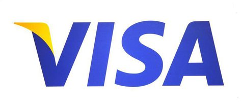 A Visa logo is seen during the International CTIA WIRELESS Conference & Exposition in New Orleans, Louisiana May 9, 2012. REUTERS/Sean Gardn