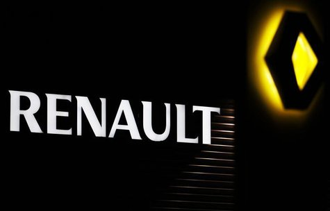 The Renault company logo is displayed on the front of a car dealership in Andernos, Southwestern France, February 12, 2013. REUTERS/Regis Du