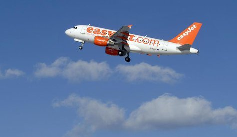 EasyJet Airbus aircraft takes of from Ljubljana's airport Brnik February 16, 2012. February 16, 2012. REUTERS/Srdjan Zivulovic