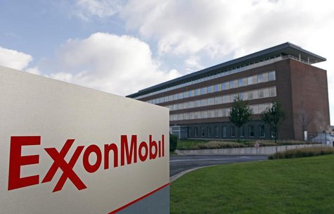 The Belgian headquarters of oil giant ExxonMobil, where Britain's Nicholas Mockford worked, is pictured in Machelen, northern Brussels, Octo