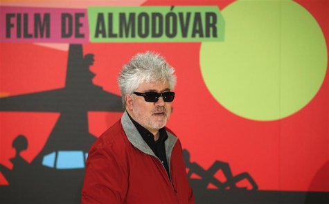 "Spanish director Pedro Almodovar poses at the photocall of his latest film ""Los amantes pasajeros"" (I'm so excited) in Madrid March 6, 2013."