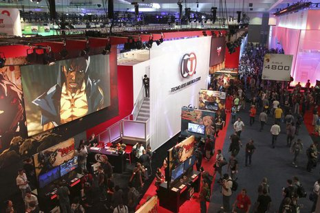 An overview of the West Hall, one of the exhibit floors at E3, the Electronic Entertainment Expo, is seen in Los Angeles, California, June 1