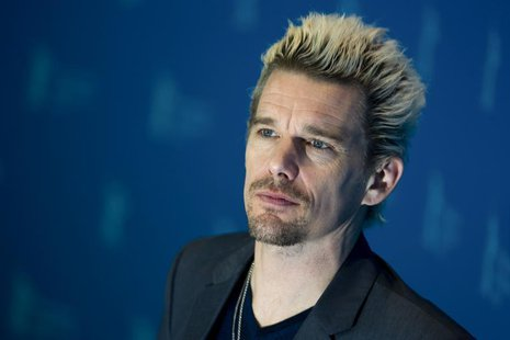 Cast member Ethan Hawke poses during a photocall to promote their movie 'Before Midnight' at the 63rd Berlinale International Film Festival