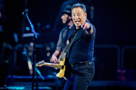 Singer Bruce Springsteen and the E-street band perform during their concert at Telenor Arena in Oslo in this picture provided by NTB Scanpix