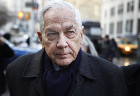 Astor heir Anthony Marshall arrives for sentencing at the Supreme Court in New York, December 21, 2009. REUTERS/Finbarr O'Reilly