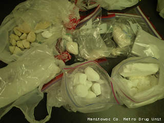 Cocaine taken as part of a months-long investigation in Manitowoc and Sheboygan counties December 2012-June 2013. (photo courtesy of the Manitowoc County Metro Drug Unit).