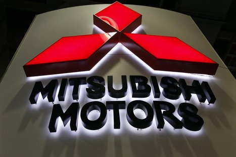 A Mitsubishi Motors logo is seen on display at the New York International Auto Show in New York City, April 20, 2011. REUTERS/Jessica Rinald