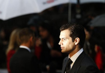 "Actor Henry Cavill arrives at the European Premiere of ""Man of Steel"" at a cinema in Leicester Square, central London, June 12, 2013. REUTER"