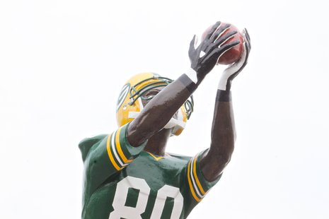 The new Donald Driver statue was also unveiled (WTAQ News Photo)