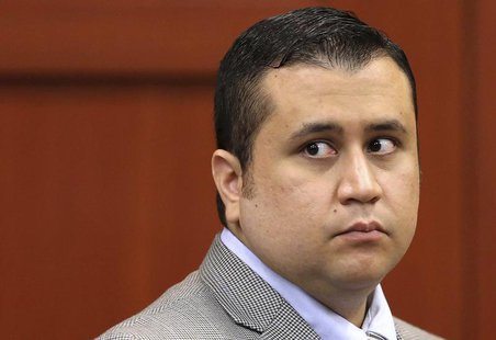George Zimmerman glances back at the gallery during a recess in Seminole circuit court on the 6th day of his trial in Sanford, Florida, June