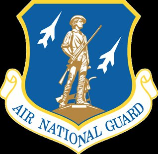 Emblem of the Air National Guard, a component of the United States Air Force This work is in the public domain in the United States because it is a work prepared by an officer or employee of the United States Government as part of that person's official duties under the terms of Title 17, Chapter 1, Section 105 of the US Code. See Copyright.