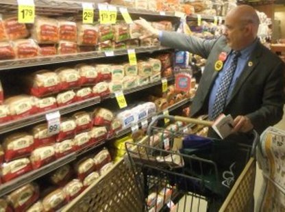 Mark Pocan (D-Madison) shopping on a food stamp budget.