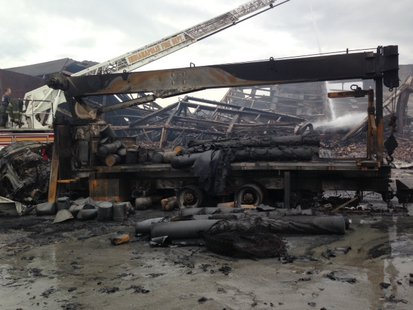 Indy warehouse fire pic 3 supplied by Indianapolis Fire Dept