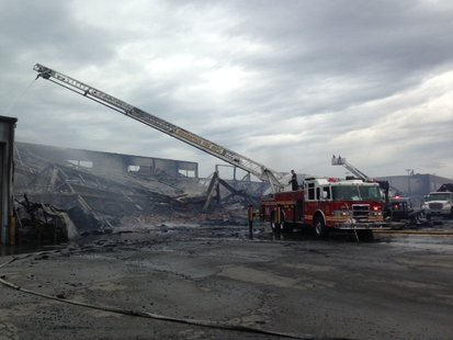 Indy warehouse fire pic 1 supplied by Indianapolis Fire Dept