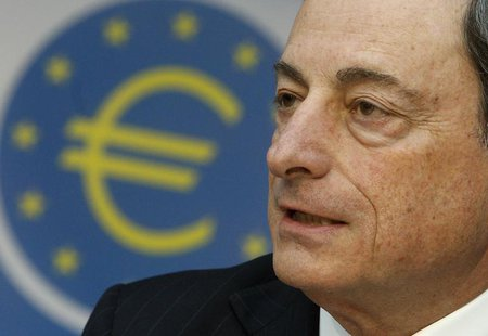 European Central Bank (ECB) President Mario Draghi listens during the monthly ECB news conference in Frankfurt April 4, 2013. REUTERS/Lisi N