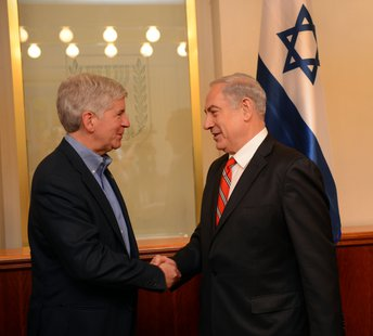 Gov Rick Snyder with Israeli Prime Minister Netanyahu