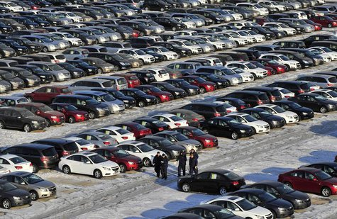 General Motors' new Chinese-made cars are seen at a parking lot in Shenyang, Liaoning province, January 25, 2013. REUTERS/Stringer
