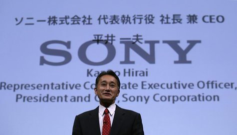 Sony Corp's President and Chief Executive Officer Kazuo Hirai attends the Sony Corporate Strategy Meeting at the company's headquarters in T