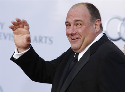 Actor James Gandolfini arrives at the BAFTA Brits to Watch event in Los Angeles, California in this July 9, 2011 file photo. REUTERS/Fred Pr