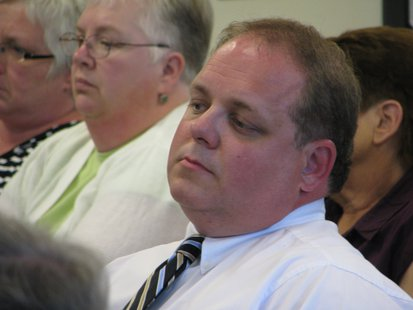 Wausau Alderman Robert Mielke in the audience at 6/18/13 Plan Commission public hearing.