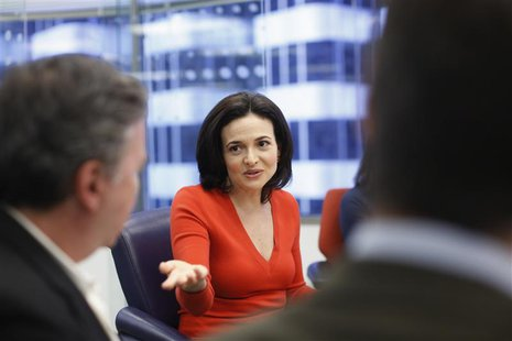 Sheryl Sandberg, chief operating officer of Facebook, speaks during Reuters Global Technology Summit in San Francisco, June 19, 2013. REUTER