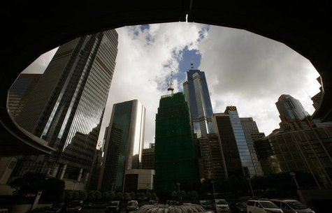 Commercial buildings are seen at the financial Central district in Hong Kong August 17, 2010. REUTERS/Bobby Yip
