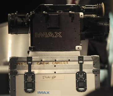 A close up of one of two IMAX cameras is seen at the Smithsonian National Air and Space Museum in Washington April 4, 2012. REUTERS/Gary Cam