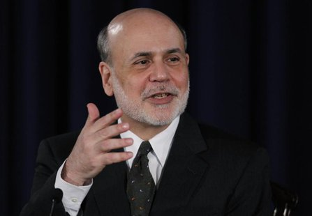 U.S.Federal Reserve Chairman Ben Bernanke addresses a news conference following the Fed's two-day policy meeting at the Federal Reserve in W