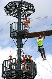 Zip Line Rider (courtesy of WikiCommons)