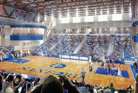 Interior view of the Sanford Pentagon