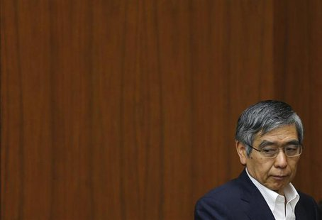 Bank of Japan Governor Haruhiko Kuroda attends a semi-annual parliament hearing on monetary policy at the Lower House of the parliament in T