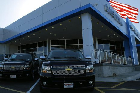 Chevrolet Tahoe and Suburban SUV's are seen in Gaithersburg, Maryland May 1, 2013. REUTERS/Gary Cameron
