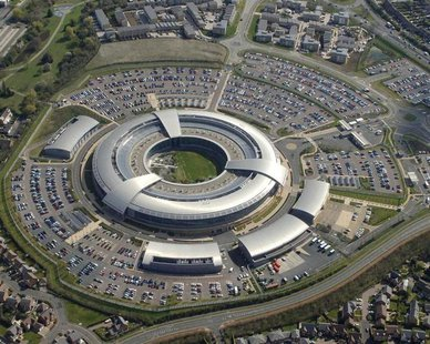 Britain's Government Communications Headquarters (GCHQ) in Cheltenham is seen in this undated handout aerial photograph released in London o