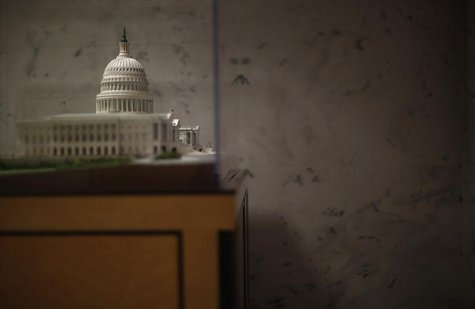 A scaled model of the U.S.Capitol building is pictured in the Dirksen Senate building in Washington, February 26, 2013. REUTERS/Jason Reed