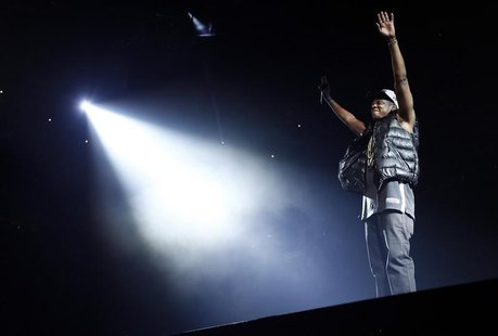 Entertainer Jay-Z performs on stage at the newly built Barclays Center in the Brooklyn borough of New York September 28, 2012. This is the f